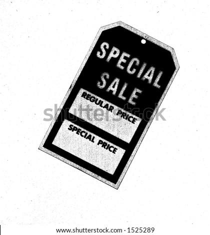 used sale tag - stock photo