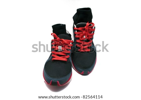 used sneakers - stock photo