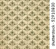 Used vintage wallpaper with leaves - XL size - grainy surface - stock photo