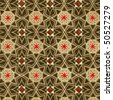 Used vintage wallpaper with stars and other geometric elements - natural grainy surface - XL size - stock photo