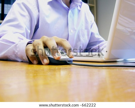 Used with a computer or laptop - stock photo