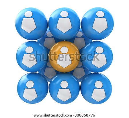 user balls in the design of access to information relating to communications and the Internet - stock photo