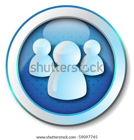 User group icon - stock photo