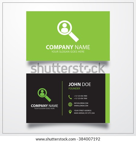 User search icon. Business card template