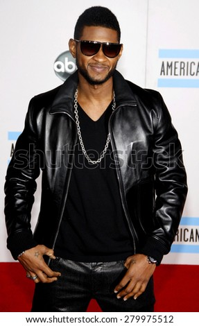 Usher at the 2010 American Music Awards held at the Nokia Theatre L.A. Live in Los Angeles on November 21, 2010.  - stock photo