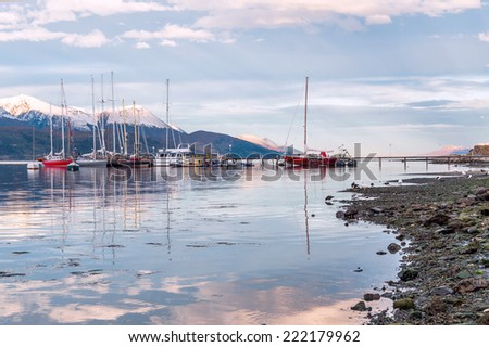 Ushuaia, Beagle Channel. Tierra del Fuego, Argentina  - stock photo