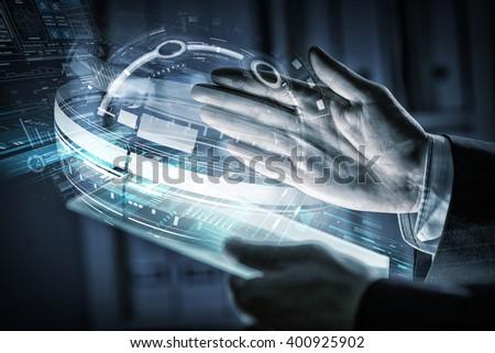 Using innovative technologies - stock photo