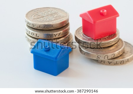 Using savings to finally get a property - stock photo