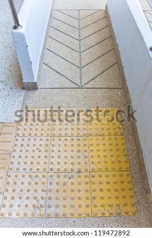 using wheelchair ramp - stock photo