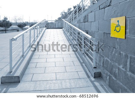Using Wheelchair Ramp(Barrier Free Access)