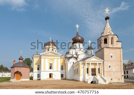 Uspensky man's monastery in city Staritsa. Russia. Tver region.