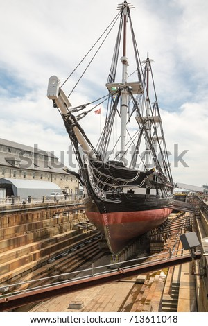 uss constitution old ironsides on freedom stock photo royalty free