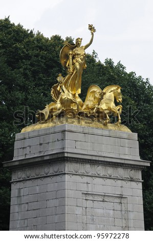 USS Maine Monument, Columbus Circle, New York, USA - stock photo