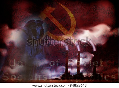 USSR Abstract - stock photo