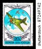 """USSR - CIRCA 1978: A postage stamp printed in the USSR shows vintage rare plane """"I-16"""", circa 1978 - stock photo"""