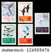 USSR- CIRCA 1962: A set of postage stamps printed in USSR shows birds, series, circa 1962 - stock photo