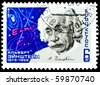 USSR - CIRCA 1979: A stamp is printed in USSR, Albert Einstein, circa 1979 - stock photo
