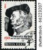 USSR -CIRCA 1963: A stamp printed in the USSR shows Wilhelm Richard Wagner, circa 1963 - stock photo