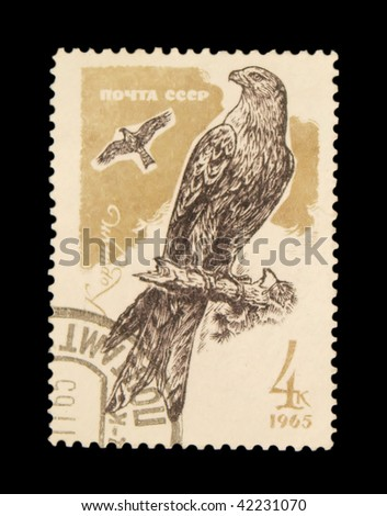 USSR - CIRCA 1965: A stamp printed in USSR showing eagle circa 1965