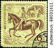 "USSR - CIRCA 1971: A Stamp printed in USSR shows the Dressage, from the series ""5th Summer Spartakiad"", circa 1971 - stock photo"