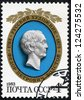 USSR - CIRCA 1983: The stamp printed in USSR shows the Russian painter F. P. Tolstoy, circa 1983 - stock photo