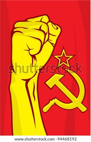 USSR fist - stock photo