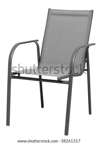 Usual modern office chair isolated on white background search - stock photo