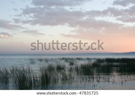 Utah Lake - stock photo