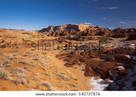 Utah red rock wilderness-Coyote Buttes north - stock photo