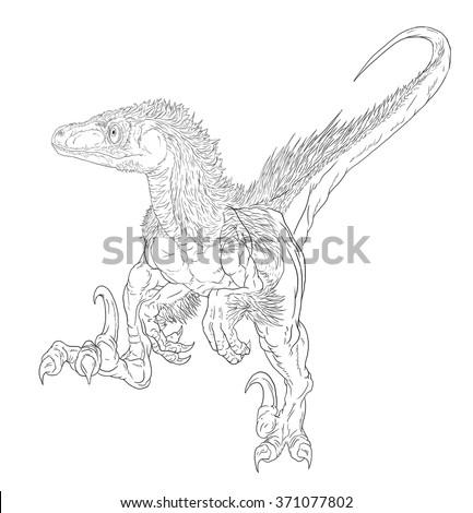 Utahraptor coloring pages online for Utahraptor coloring page