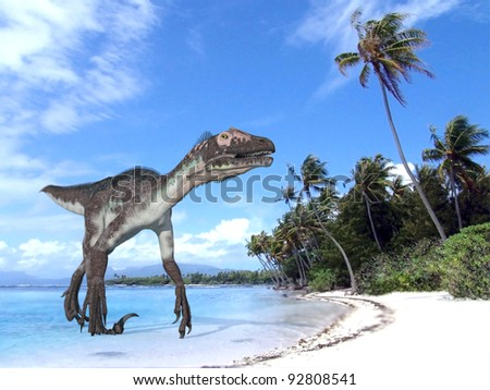 utahraptor on coast