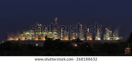 Utility plant, Oil Refinery twilight light in thailand industrial. - stock photo
