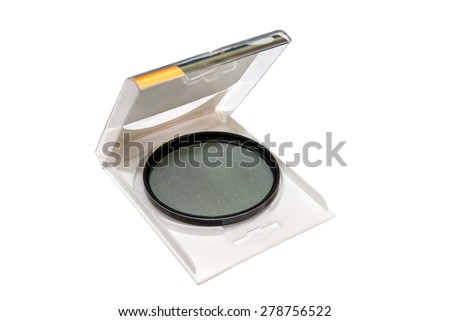UV Photo Filter in plastic case Isolated - stock photo