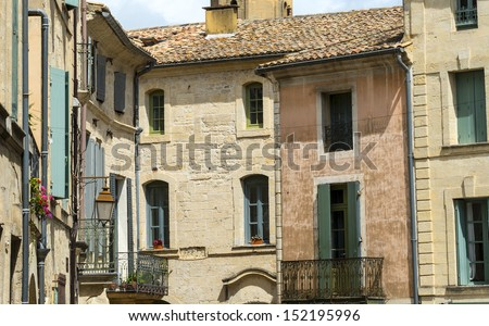 Uzes (Gard, Languedoc-Roussillon, France) - Old typical houses