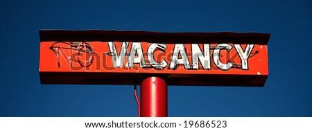 vacancy - stock photo