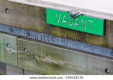 Vacant Parking For Boat. Marine Sign