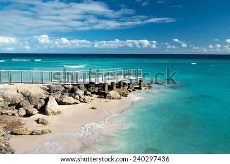 Vacation background. Amazing tropical beach. - stock photo