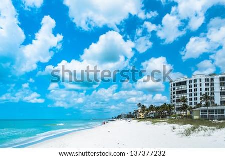 Vacation Beach in Naples Florida, USA - stock photo