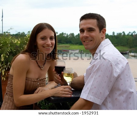 Vacation - couple series - stock photo