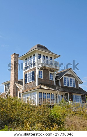 Vacation House at the Beach - stock photo