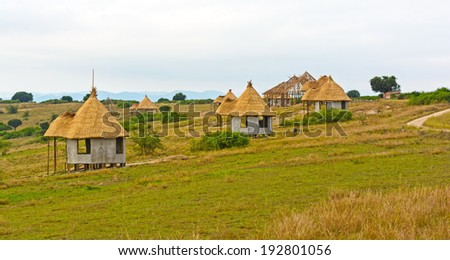 Vacation Huts in Queen Elizabeth National Park in Uganda