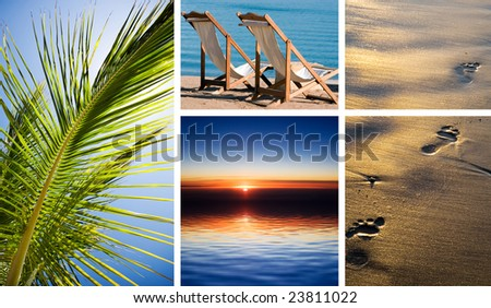 Vacation in tropical beach - stock photo