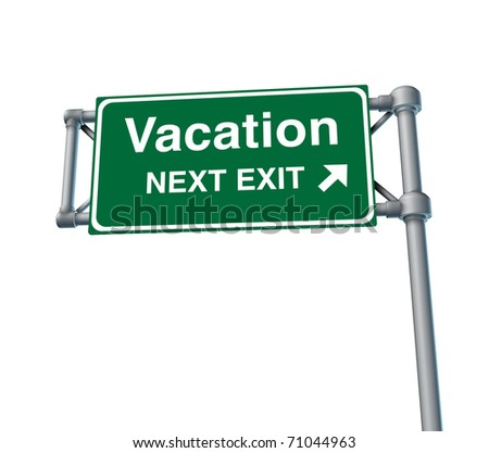 Vacation relaxing traveling resting freeway sign relaxation sleeping