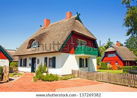 vacation rental homes in the north of germany - stock photo