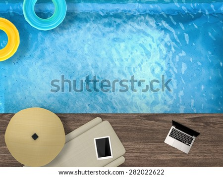 vacation time - stock photo
