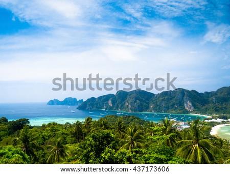Vacation Wallpaper High Viewpoint  - stock photo