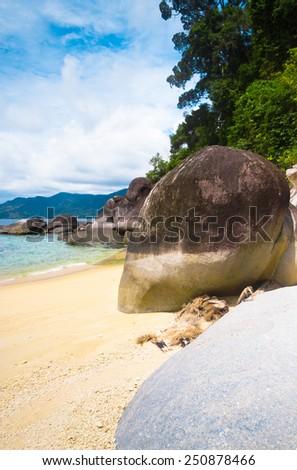 Vacation Wallpaper In Sunny Paradise  - stock photo