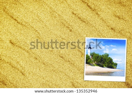 Vacations Background (pictures with empty space for your text) - stock photo