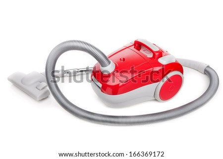 Vacuum cleaner for modern house cleaning. On a white background. - stock photo
