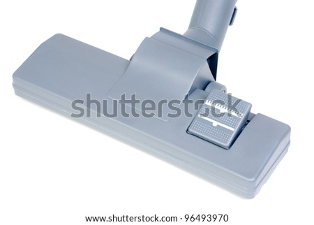 vacuum cleaner head  isolated on white background - stock photo